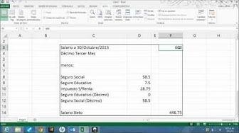 calculo del sueldo neto de un empleado