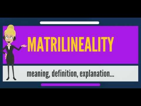 What is MATRILINEALITY? What does MATRILINEALITY mean? MATRILINEALITY meaning & explanation