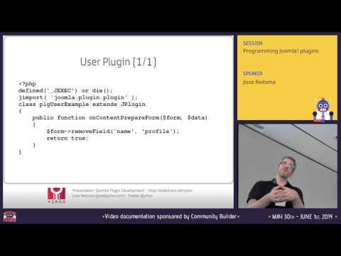 Programming Joomla! Plugins