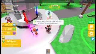 Roblox - Säbel Simulator prooving, dass Menschen noch Ruck in bgs sein können