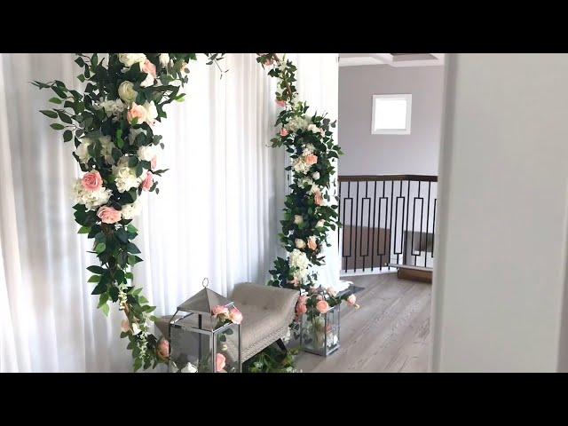 DIY - Elegant Floral Arch Diy - Floral  Decor Diy- Wedding