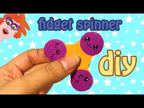 DIY - fidget spinner knutselen - kawaii