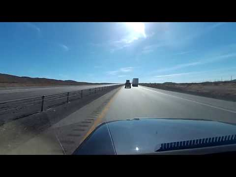 Mesquite, NV to Las Vegas on I-15 in high speed