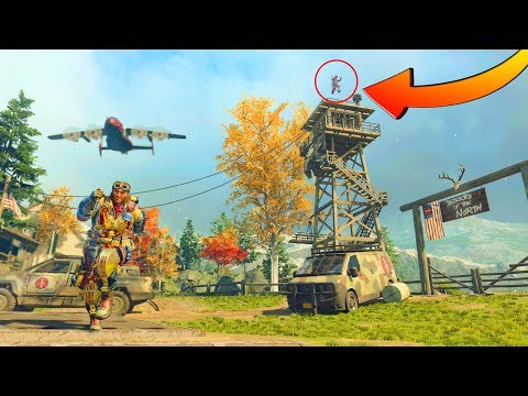 I FOUND A PLAYER CHEATING HIDING ON TOP OF THE WATCH TOWER!!! HIDE N' SEEK ON *BLACK OPS 4*