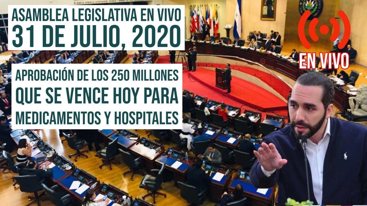Asamblea Legislativa En Vivo - Aprobación de 250 Millones Para Hospitales y Alcaldías