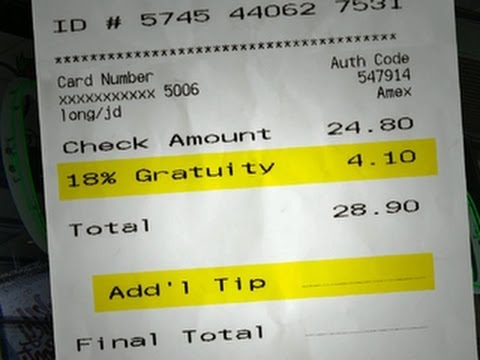 NYC restaurants sued over gratuity: Is a tip required?