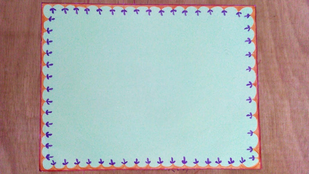 Simple Border Designs For Projects To Draw On Paper Quick And Easy6 Assignment Front Page Design
