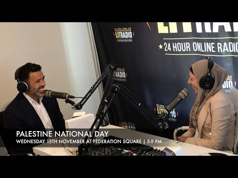PALESTINE NATIONAL DAY - 15TH NOV 2017 AT FED SQUARE