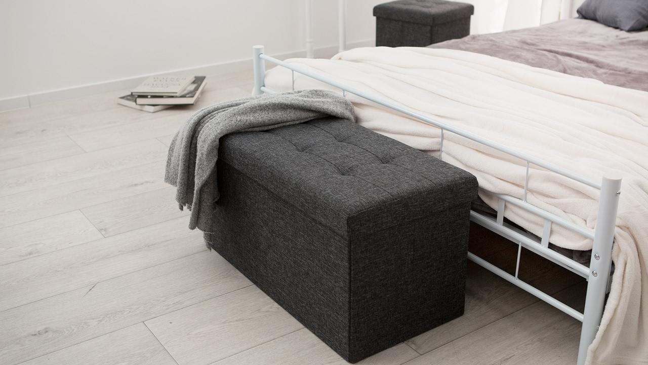 Faltbarer sitzhocker aus polyester mit stauraum günstig online