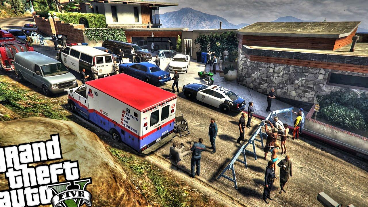 Multiple Homicide at Franklin's House - GTA 5 MOD