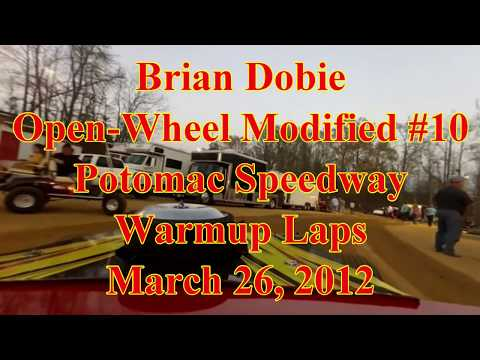 Brian Dobie OWM warming up at Potomac Speedway 3/26/12