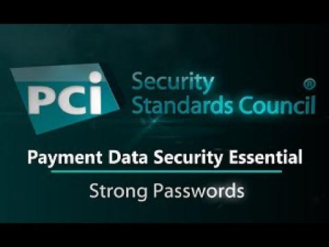 Payment Data Security Essential: Strong Passwords