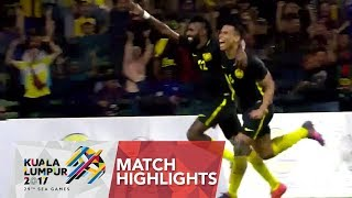 Football ⚽ match highlights: Singapore 🇸🇬 vs Malaysia 🇲🇾 | 29th SEA Games 2017