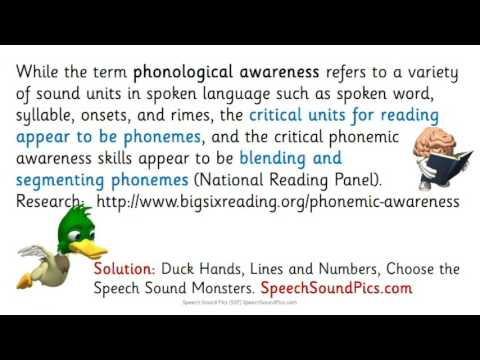 The Big Six - Phonemic Awareness - A Focus on Speech Sounds