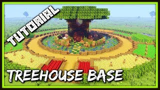 How To Build A Treehouse Base | Minecraft Tutorial