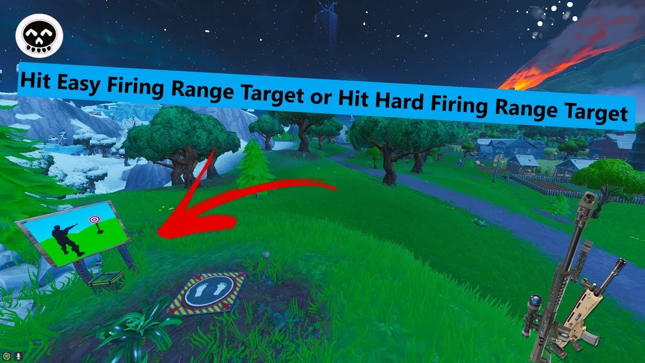 Fortnite Bullseye Challenge Hit Easy Firing Range Target Or Hit Hard Firing Range Target