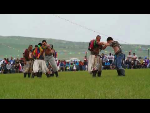 Mongolian Wrestling at Naadam in Inner Mongolia