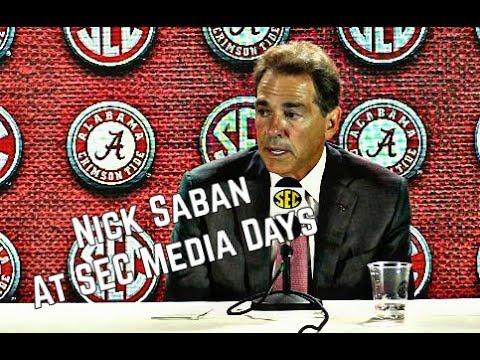 Nick Saban comments on Alabama football at SEC Media Days