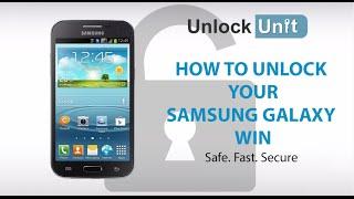 UNLOCK SAMSUNG GALAXY WIN I8550 - HOW TO UNLOCK SAMSUNG GALAXY WIN I8550