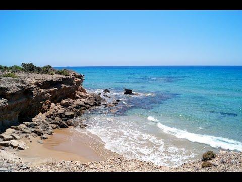 Beaches on western coast of Kos Island, Greece. (Agios Teologos, Agios Mammas, Cavo Paradiso)