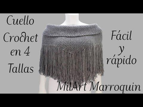 Cuello con Flecos Crochet - YouTube