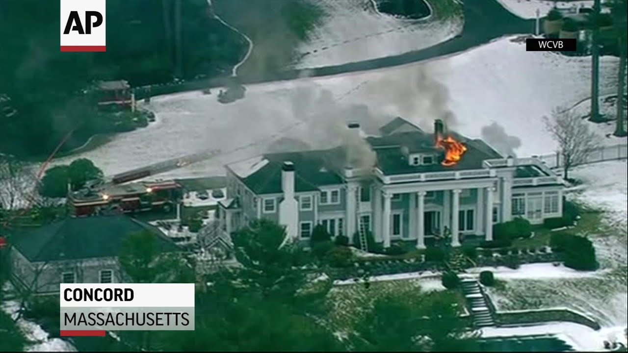 Fire burns through Massachusetts mansion