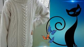 """Вяжем свитер """"LaRoshe"""" спицами. Спинка. Часть 3. Особенности расчета петель."""