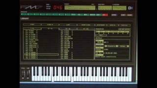 Yamaha DX 7 Emulation - FM7 - All 127 Voices in 43 minutes ! Original sound bank Software Demo