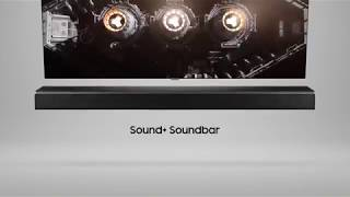 Samsung Sound+ Soundbar: Earth-shattering sound.
