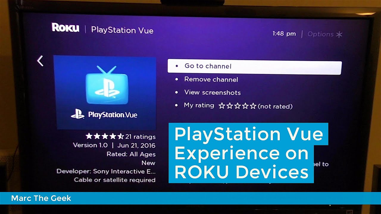 Playstation Vue Experience On Roku Devices Youtube