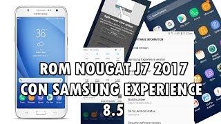 On8 Nougat Port ROM PARA SAMSUNG J7 2015 (7.0 NOUGAT)
