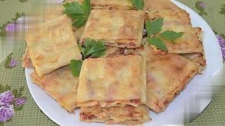 Готовим жареный лаваш с колбасой и сыром / рецепт лаваша к пиву / готовим дома