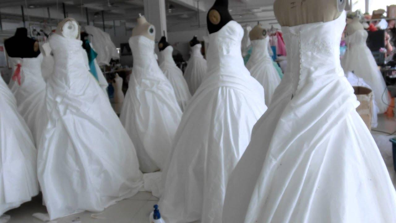 wedding dress factory - YouTube