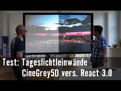 Theorie & Praxis: Elite Screens CineGrey 5D vs. Draper React
