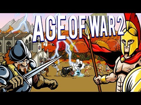HARD MODE! ROMANS VS FUTURE! - AGE OF WAR 2 GAMEPLAY