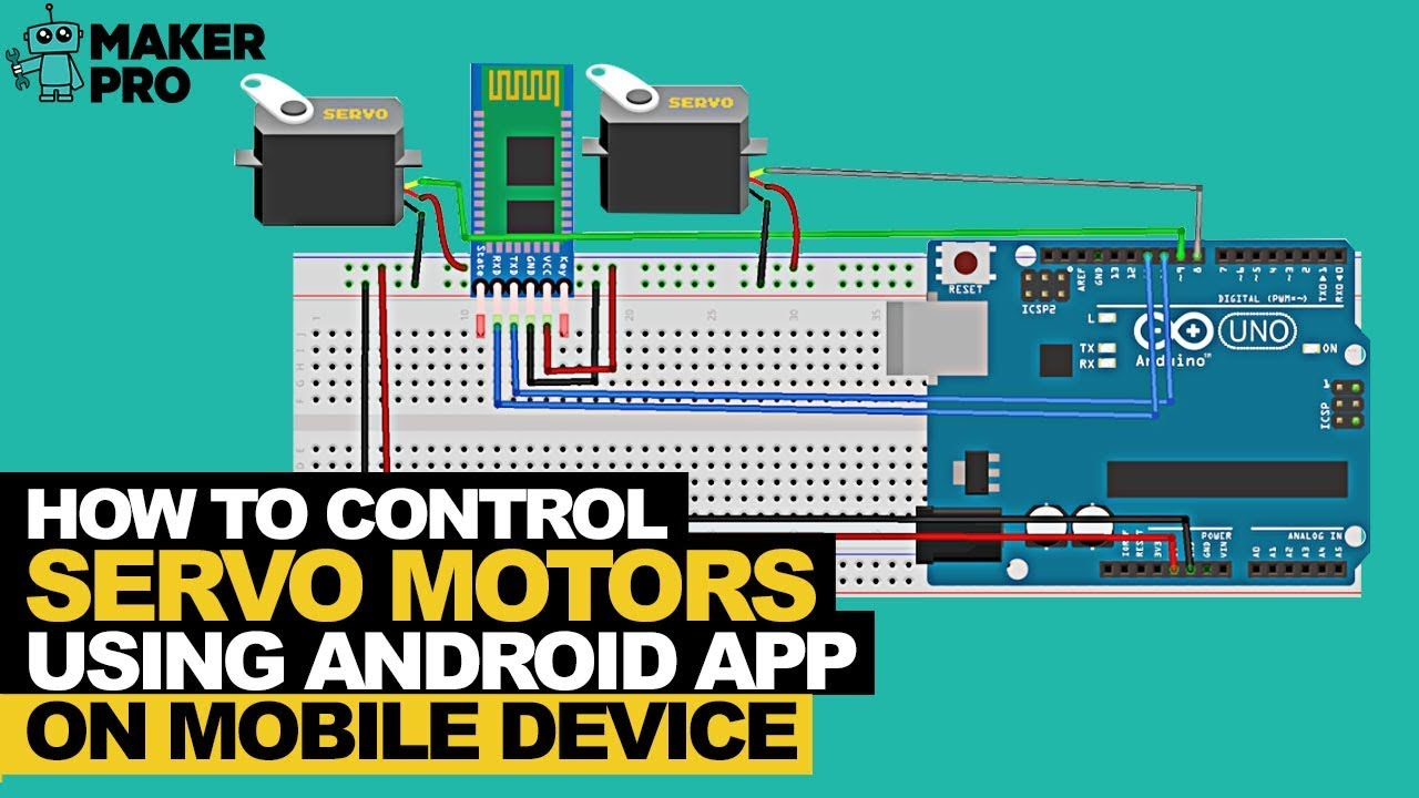 How to Control Servo Motors from a Mobile Device with an