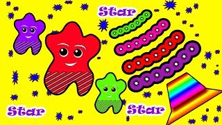 Little Baby Fun Learning Colors Shapes for Children Star Animal Wooden Toys Kids Video Baby Monster