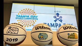2018 ncaa women's final four dribble to work day with #teamtampabay