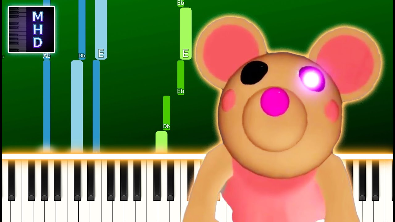 Themr Roblox Youtube Piggy Roblox Mousy Theme Piano Tutorial Easy Youtube