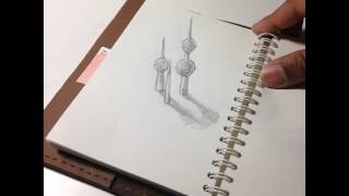 3D Sketch: Kuwait Tower #art #landmark #stopmotion