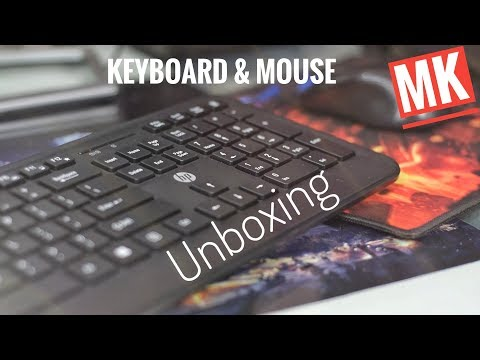 HP Wireless Keyboard And Mouse Unboxing
