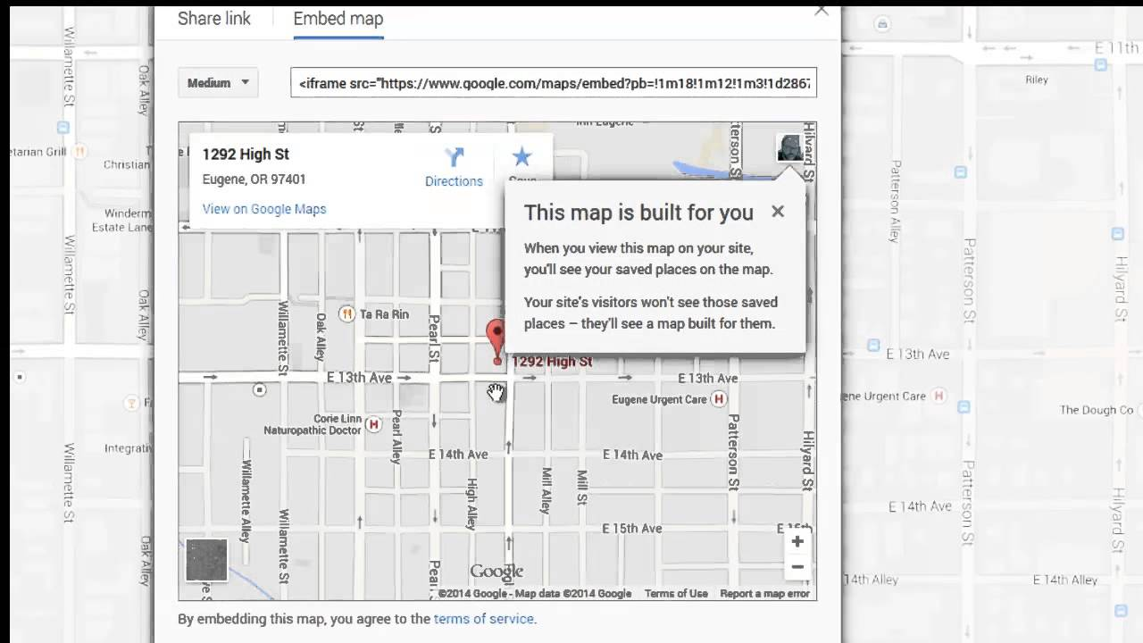 how to create a google map for your website