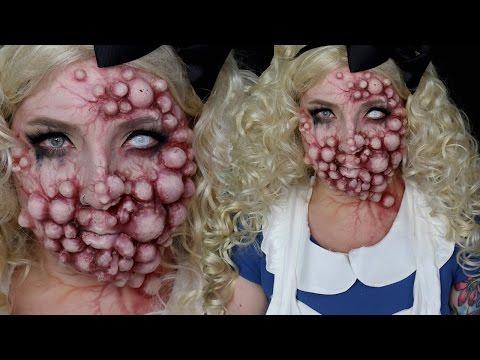 Mutated Monster Alice in Wonderland SFX Makeup Tutorial
