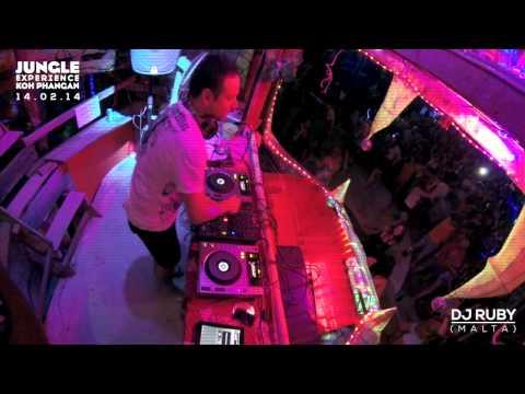 DJ Ruby live video set at Jungle Experience Koh Phangan Thailand 14-02-14