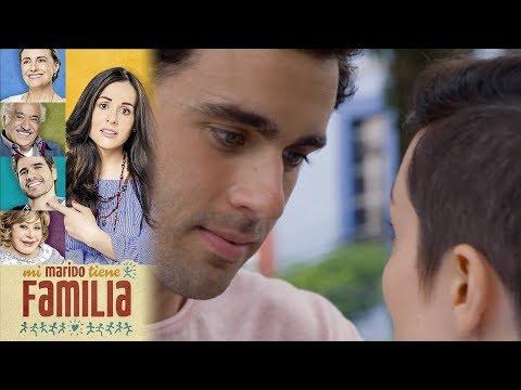 Daniela imagina que besa a Gabriel | Mi marido tiene familia - Televisa