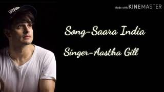 Saara India Lyrics Aastha Gill Ft Priyank sharma Arvindr khaira Sony music india Listen Lyrics
