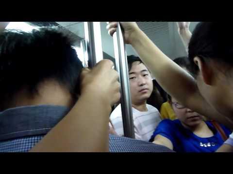 擁擠的北京地鐵
