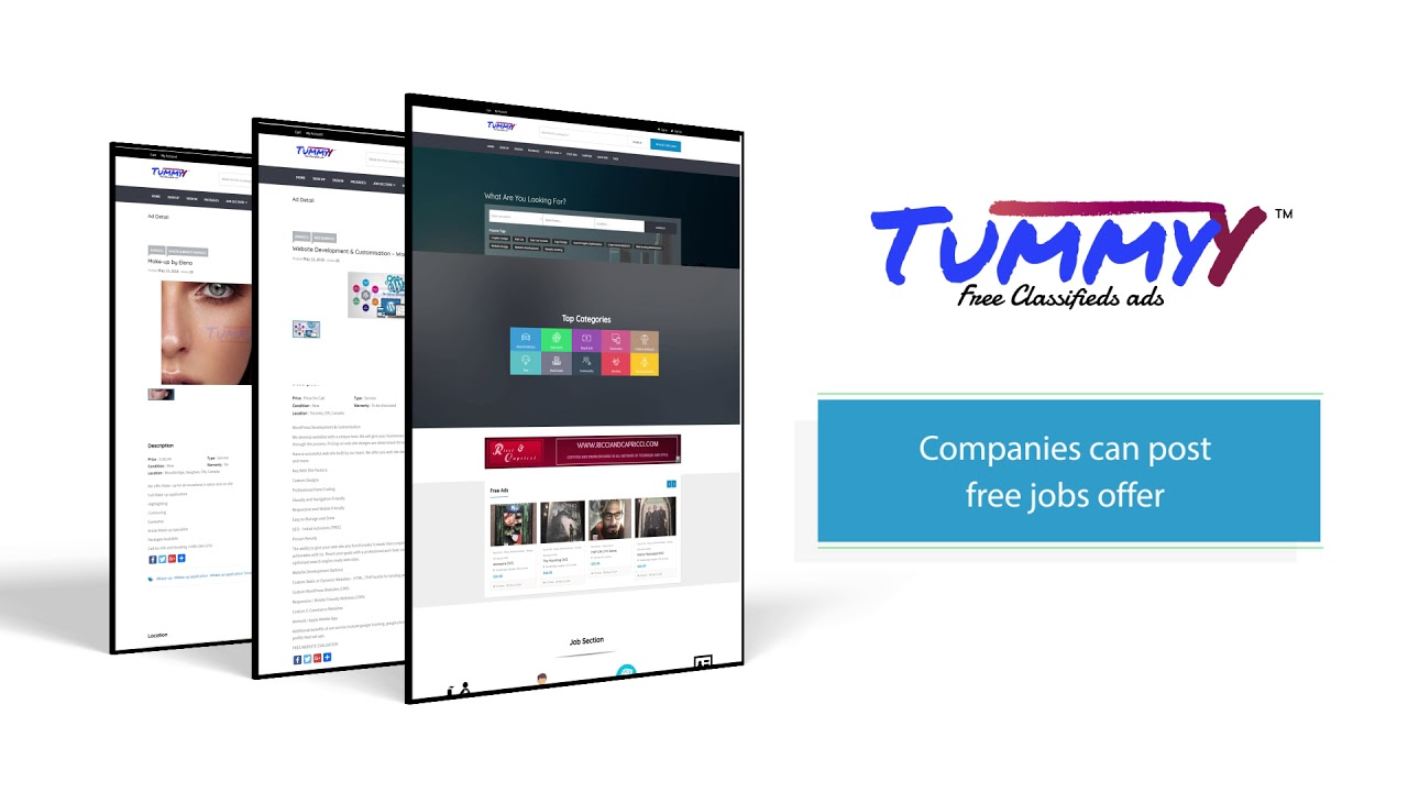 Post Free Ads and Jobs Offer   Tummyy com™ Free Classifieds Ads