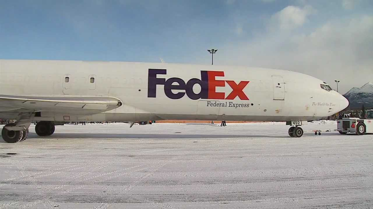 Fedex Plane Lands At Merrill Field In Anchorage Alaska Youtube