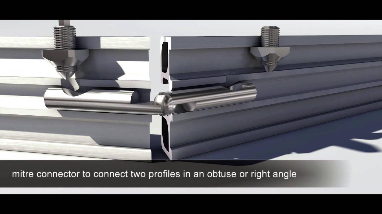 minitec muestra como unir perfiles de aluminio con su